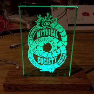 Etched Glass Light Up Plaque